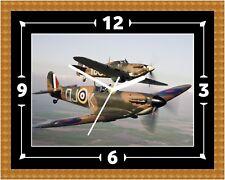 RAF Spitfire Reloj Regalo Presente Navidad Cumpleaños (personalizable)