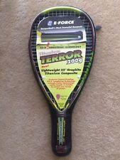 """New E-Force Terror 200g 104 Sq In 22"""" Racquetball Racquet + Hc"""