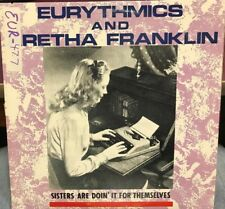 "Eurythmics & Aretha Franklin Sisters are doin it for themselves 12"" 85 RCA 14243"