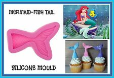 MERMAID FISH TAIL SILICONE MOULD. PERFECT FOR FONDANT SUGAR CRAFT.CHOCOLATE. ECT
