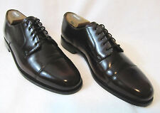 COLE HAAN Caldwell Size 10 B Men's Cap Toe Burgundy Patent Leather Oxford Shoes