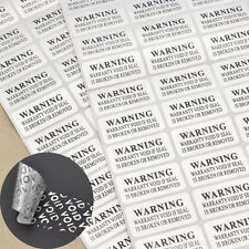 Sticker VOID  Sicherheit Siegel 88 Stk. Aufkleber Manipulationssicher Hologramm