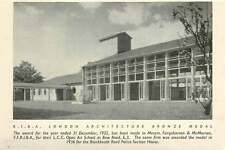 1953 London Architecture Medal For Open-air School Bow Road E3