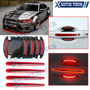 3D Door Handle Night Reflective Guard Sticker Strip For Dodge Challenger Charger
