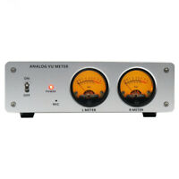 ANALOG VU METER Voice control w/ LED backlight Display Aluminum alloy enclosure
