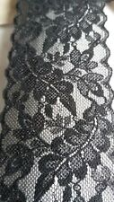 Black Elasticated Lace  55 mm wide by 3m long. Premium Quality. Austrian.