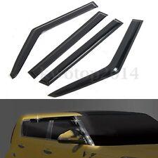 Car Door Window Vent Visors Shield Rain Guards Deflector For KIA Soul 2014