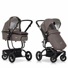 Abverkauf 2in1 Kombi Kinderwagen Babywanne Buggy Liegefunktion Faltbar Braun