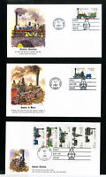 US Stamps Unaddressed FDCs Of 22¢ Train Stamps