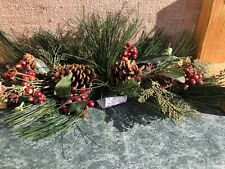 Vintage Red Berry & Pine cone Swag Home Interiors Gifts Longest 24 Inches Pair