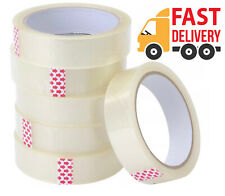 More details for 6 x rolls clear packing tape cellotape sellotape 24mm x 66m