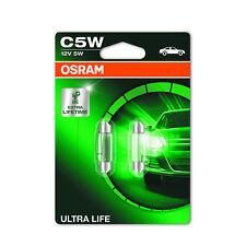2x Fiat Fiorino 147 C5W Genuine Osram Ultra Life Number Plate Lamp Light Bulbs