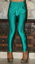 XL SHINY GREEN VINTAGE SPANDEX LINGERIE GYM WORK OUT DISCO PANTS