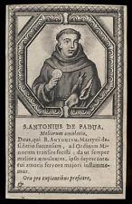 santino incisione 1600 S.ANTONIO DA PADOVA