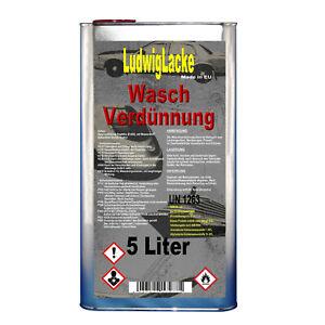 Nitroverdünnung Waschverdünnung 5 Liter Reiniger für Autolack