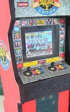 Street Fighter II Pantalla Led Real modelo de máquina de arcade en MINIATURA-ESCALA 1/12th