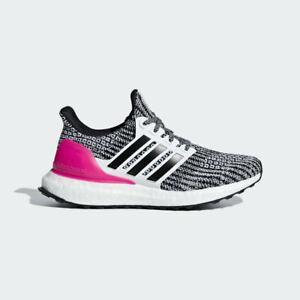 Adidas UltraBoost 4.0 J Kids Boys Running Shoes Cloud White/Black/Pink B43508