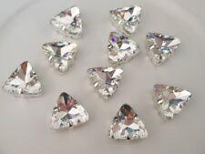 10 x 18mm Clear Triangle Shape Rhinestone Flat back / Claw / Sew On