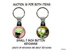 INVADER ZIM GIR cupcake set of 2 Key Chains
