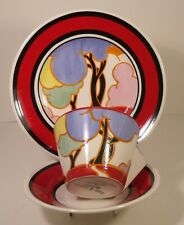 Clarice Cliff by Wedgwood Autumn Trio Cup, Saucer and Side Plate Boxed