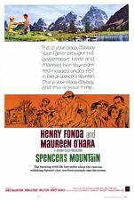 SPENCER'S MOUNTAIN Movie POSTER 27x40 Henry Fonda Maureen O'Hara James MacArthur