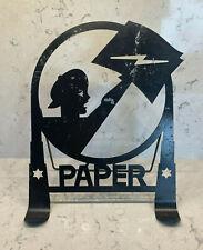 Vintage Art Deco-style black metal paper holder