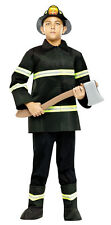 AUTHENTIC ISSUE FIREMAN CHIEF CHILD HALLOWEEN COSTUME BOYS SIZE SMALL 4-6