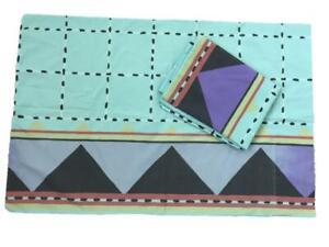 2 vintage pillowcases 20 x 30 Collier Campbell 1980s mod deco