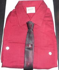 Nos 50's National Red +Black Flecked! Long Sleeve Camp Loop Collar Rockabilly Xl