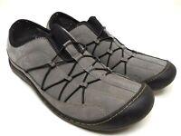 Clarks Springers Womens Size 7.5 Med Gray Nubuck Slip On Comfort Walking Shoes