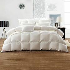 Luxury 100% White Goose Down Comforter 100%Egyptian Cotton 1200Tc 750 Fill Power