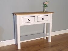 Corona White 2 Drawer Console Table by Mercers Furniture