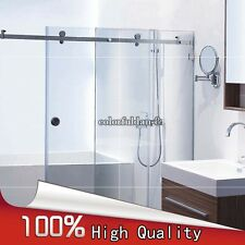 304 Stainless Steel Frameless Shower Sliding Door Hardware Set (No Bar & Glass)