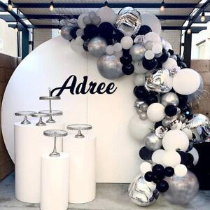 144Pcs Grey Sliver Balloon Arch Garland Kit Wedding Graduation Birthday Party