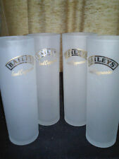 SET OF 4 BAILEYS' ICED CAPPUCCINO TALL FROSTED GLASSES