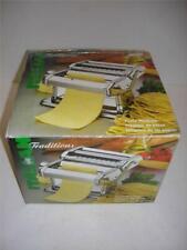 NEW Italian Traditions Homemade Stainless Hand Crank Traditional Pasta Machine