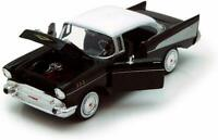 CHEVROLET BEL AIR 1957 1:24 Scale Diecast Toy Car Model Die Cast Vintage Black