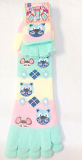 Cat Mouse Pink Blue Striped Toe Socks Mittens Set Child 9-11 NWT