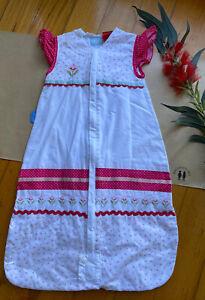 The Gro Company Grobag baby girl sleeping bag 1.0 tog, size 0-6 months, VGUC