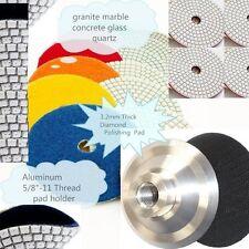 "4"" Polishing 40 Pad 2 Aluminum Back Granite Stone Concrete Floor Countertop"