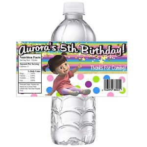 BOO FROM MONSTERS INC PERSONALIZED BIRTHDAY PARTY FAVORS WATER BOTTLE LABELS