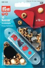 10 Nähfrei-Druckknöpfe für Anorak 12 mm gold von  Prym 390 332