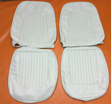1967 1968 Camaro Seat Covers Front Bucket White 67 68 Chevrolet Standard SS RS