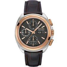 NEW Bulova Men's Accu Swiss Automatic Leather Strap Watch 65B167