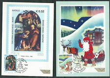 1999 ITALIA CARTOLINA MAXIMUM NATALE ANNULLO FDC - ED