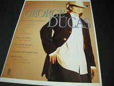 GEORGE DUCAS National Media Coverage etc. 1995 PROMO POSTER AD mint condition