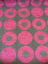 Designer Upholstery Fabric Quebec Circles Fuchsia By The Metre