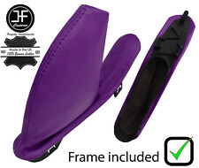 PURPLE REAL LEATHER HANDBRAKE GAITER WITH PLASTIC FRAME FOR MG ZT ZT-T 1999-2005