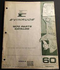 1970 EVINRUDE OUTBOARD 60 TRIUMPH PARTS MANUAL P/N 279276  (113)