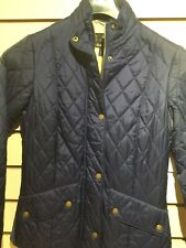 Barbour Flyweight Cavalry Quilted Jacket, Indigo Size 10 BNWT, RRP £129
